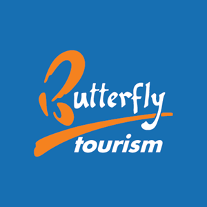 Butterfly tourism Logo Vector