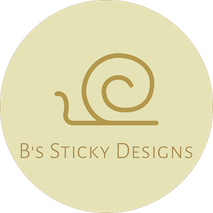 B's Sticky Designs Logo Vector