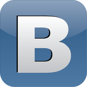 B - Vkontakte the Social Network Logo Vector