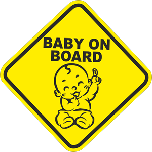 BABY ON BOARD Logo Vector