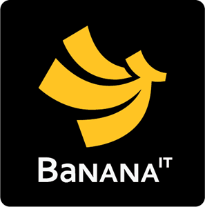 Banana IT Logo Vector