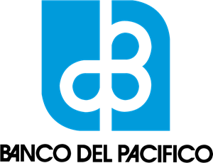 Banco del Pacífico antiguo vertical Logo Vector