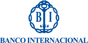 Banco Internacional antiguo vertical Logo Vector