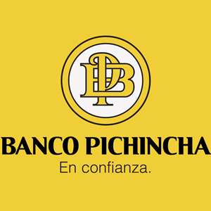 Banco Pichincha Alternativo fondo amarillo Logo Vector