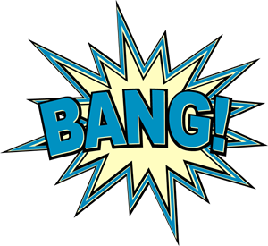 Bang Comic Book Exclamation Logo Vector