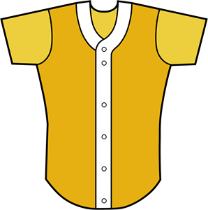 BASEBALL SHIRT FRONT VIEW Logo Vector
