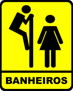 bathroom sign Logo Vector