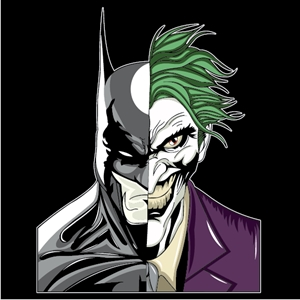 batman & joker Logo Vector