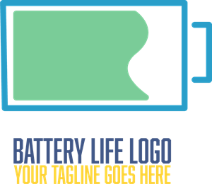Battery life Logo Vector