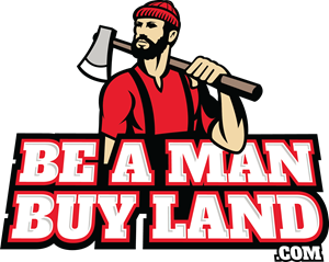 Be A Man Buy Land Logo Vector