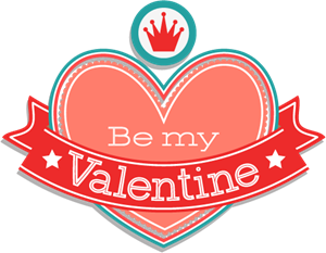 Be My Valentine (Valentine's Day) Logo Vector