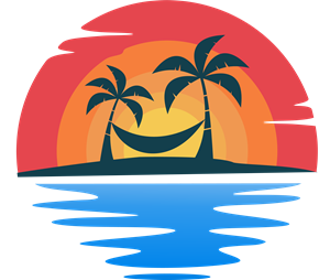 Beach Tour Logo Vector