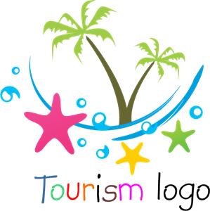 Beach Tourism Logo Vector