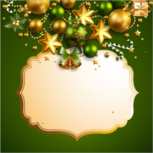 beautiful christmas border background Logo Vector