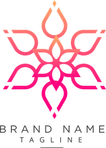 Beautiful flower Logo Vector
