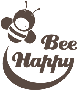 Bee Happy Logo Vector