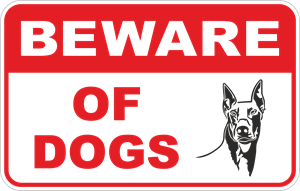 beware of dog Logo Vector