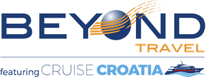 Beyond Cruise Croatia Travel Logo Vector