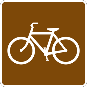 BICYCLE TRAIL SIGN Logo Vector