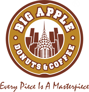 Big Apple Donuts Logo Vector