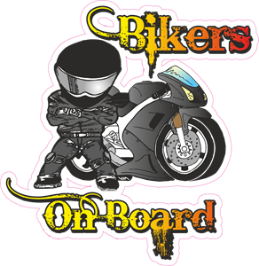 Bikers on Board Logo Vector