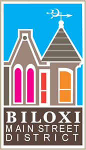Biloxi Main Street District Logo Vector