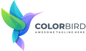 Bird colorful gradient color Logo Vector