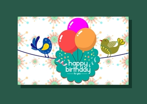birthday card template Logo Vector