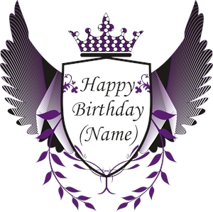 Birthday Name Logo Vector