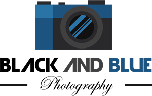 black and blue photography Logo Vector