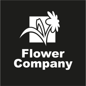 Black and White Flower Logo Vector
