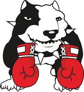 Black Dog Boxing Club Logo Vector
