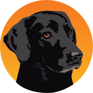 Black Dog Circle Logo Vector