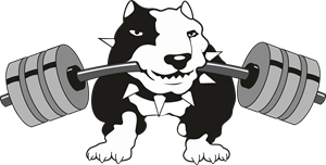 Black Dog Gym Logo Vector