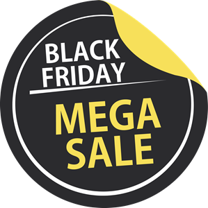 Black Friday Mega Sale Logo Vector