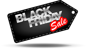 Black Friday tag Logo Vector