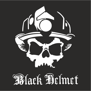Black Helment Logo Vector
