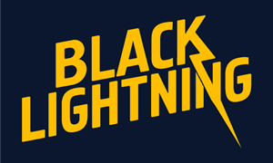Black Lightning Logo Vector