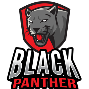 Black Panther esport Logo Vector