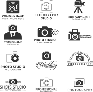 Black Photographers Colection Logo Vector