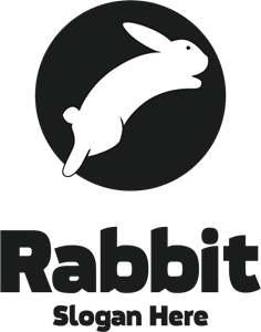Black & White Rabbit Logo Vector