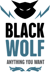 Black Wolf Abstract Logo Vector