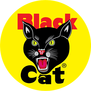 black cat fireworks Logo Vector