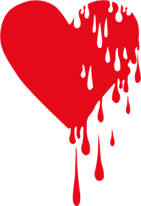 Bleeding heart Logo Vector