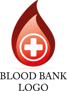 Blood Drop Hospital Logo Vector