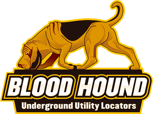 Blood Hound Underground Utility Locators Logo Vector
