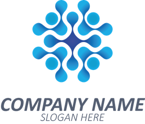 Blue Abstract Company Shape Logo Vector