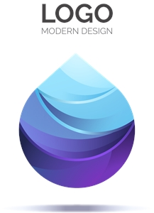 Blue Abstract Logo Vector