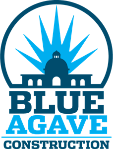 Blue Agave Construction Logo Vector