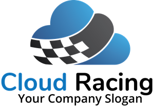 blue and black cloud Logo Vector